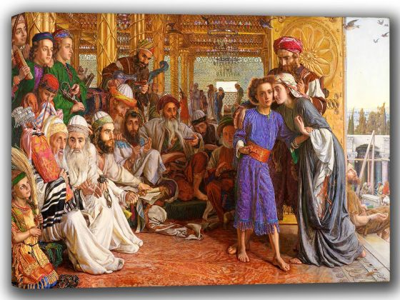 Hunt, William Holman: The Finding of the Saviour in the Temple. Fine Art Canvas. Sizes: A4/A3/A2/A1 (002666)